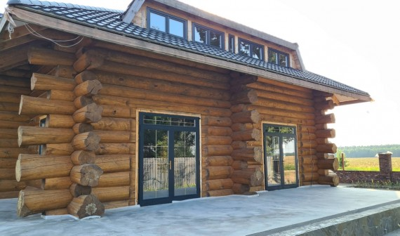 Деревянные окна в срубе д.Обруб Гродненская область